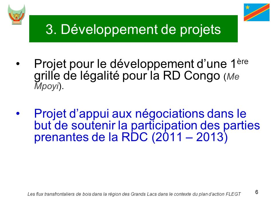 3. Développement de projets