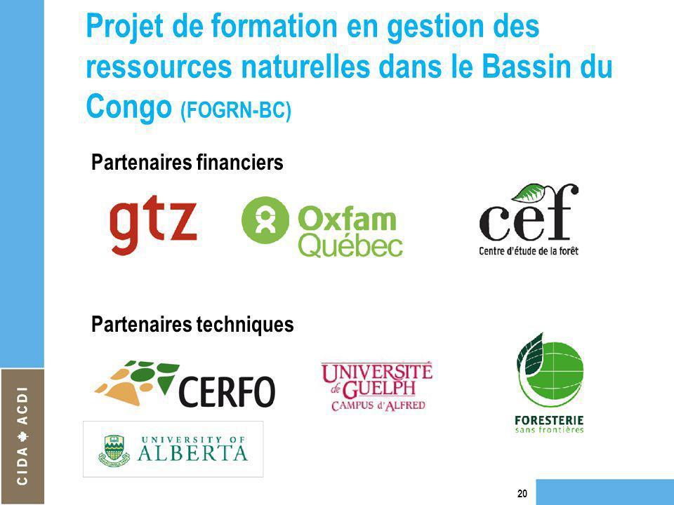 Projet de formation en gestion des ressources naturelles dans le Bassin du Congo (FOGRN-BC)