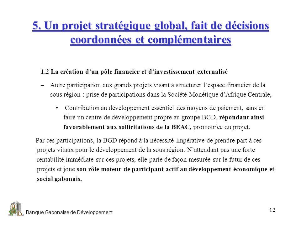 5. Un projet stratégique global, fait de décisions coordonnées et complémentaires