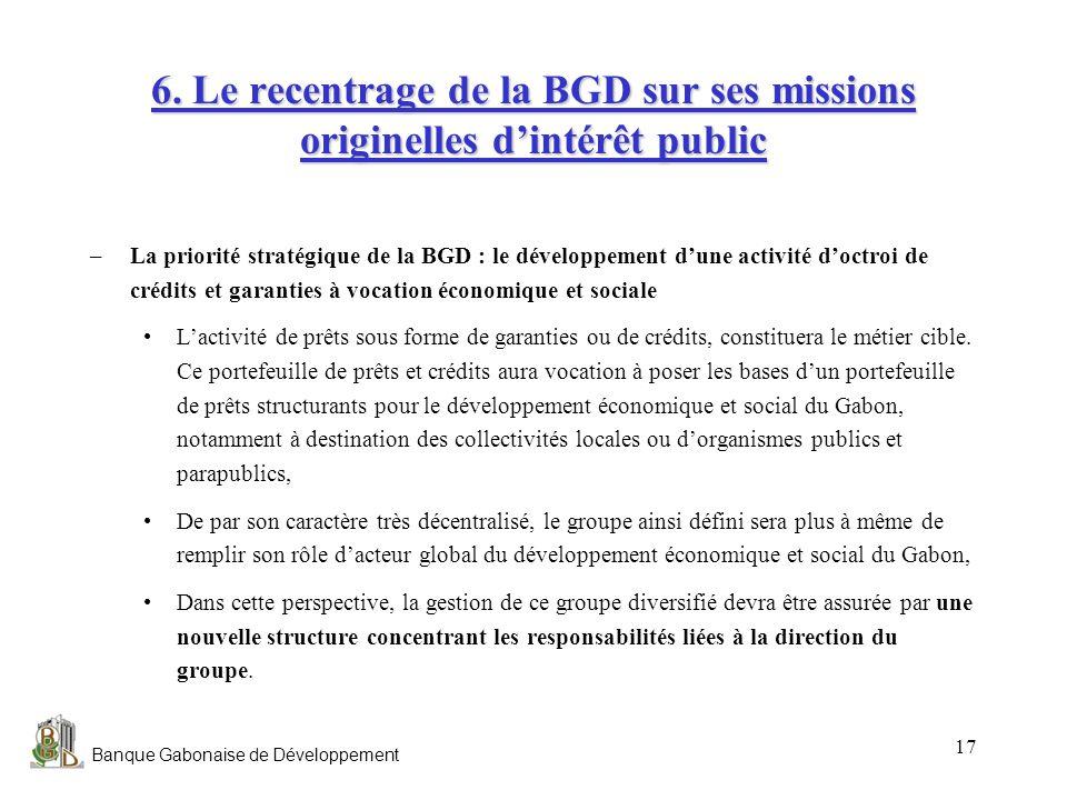 6. Le recentrage de la BGD sur ses missions originelles d'intérêt public