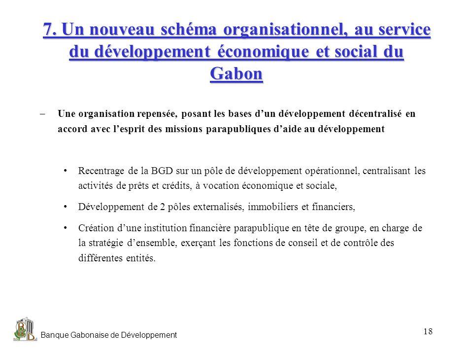 7. Un nouveau schéma organisationnel, au service du développement économique et social du Gabon