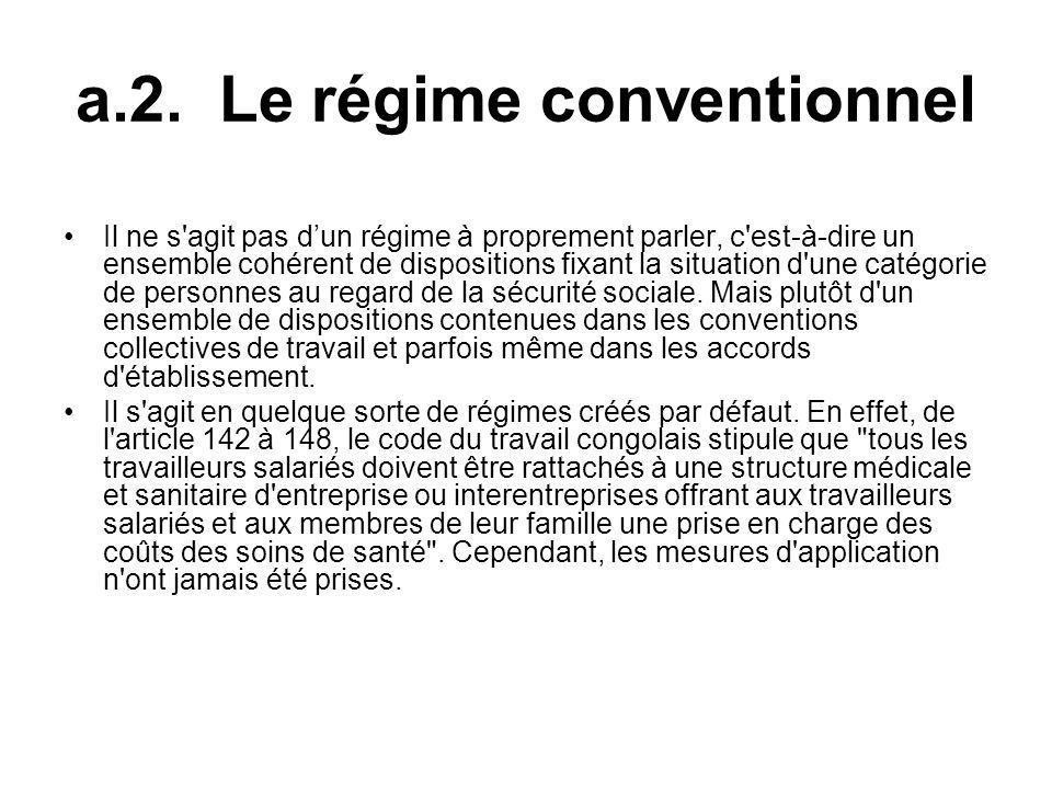 a.2. Le régime conventionnel