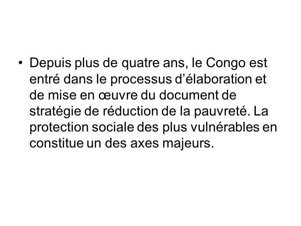 Depuis plus de quatre ans, le Congo est entré dans le processus d'élaboration et de mise en œuvre du document de stratégie de réduction de la pauvreté.