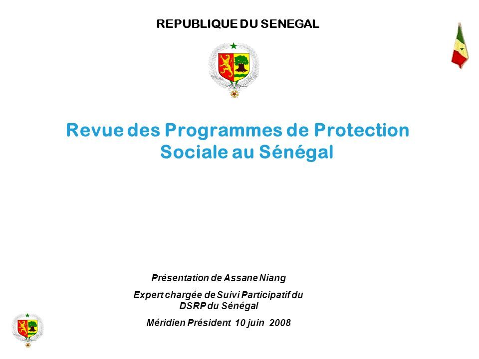 Revue des Programmes de Protection Sociale au Sénégal