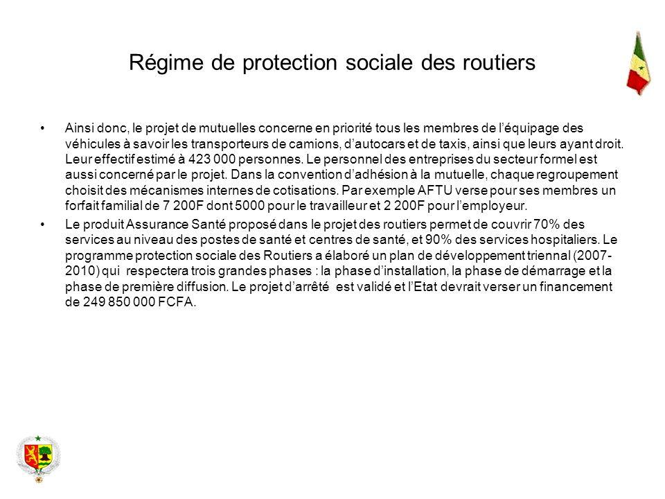 Régime de protection sociale des routiers