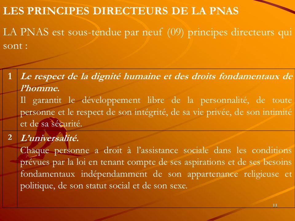 LES PRINCIPES DIRECTEURS DE LA PNAS