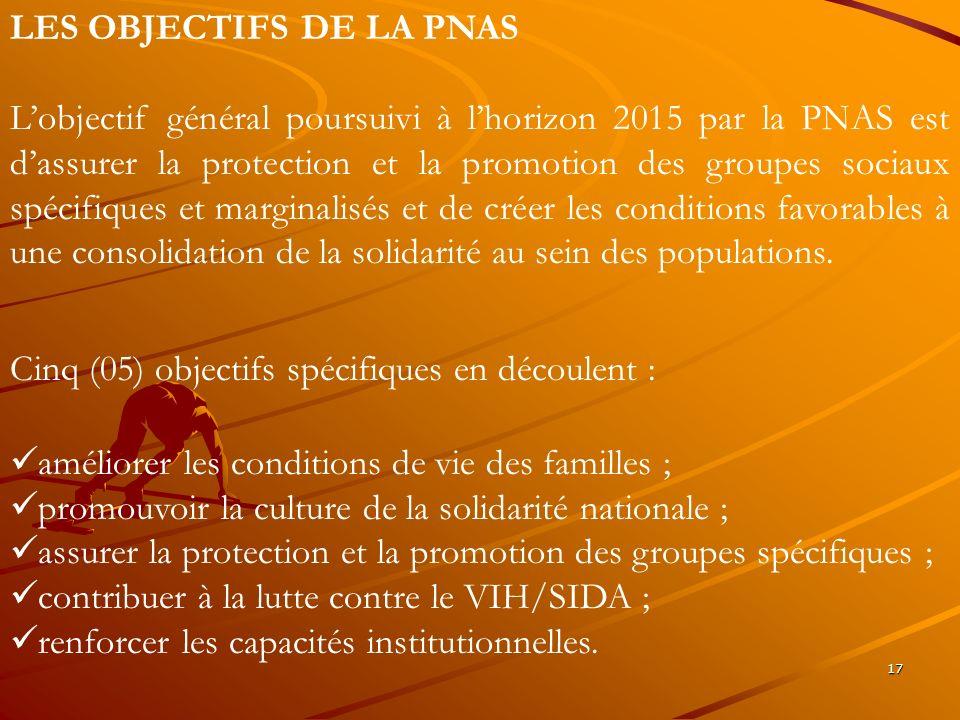 LES OBJECTIFS DE LA PNAS