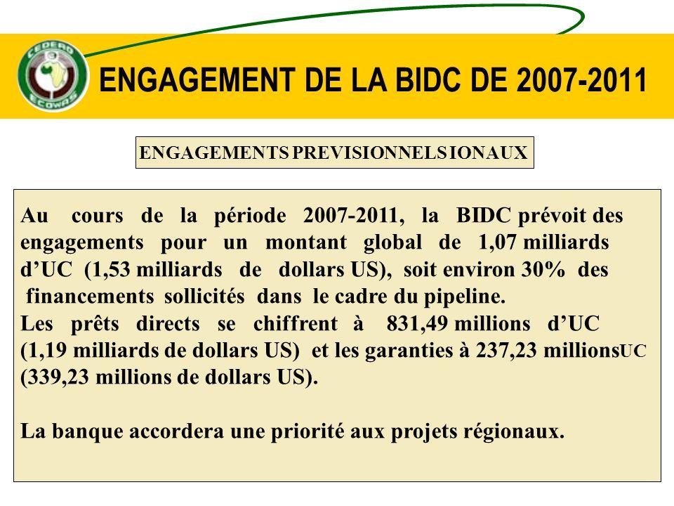 ENGAGEMENT DE LA BIDC DE 2007-2011