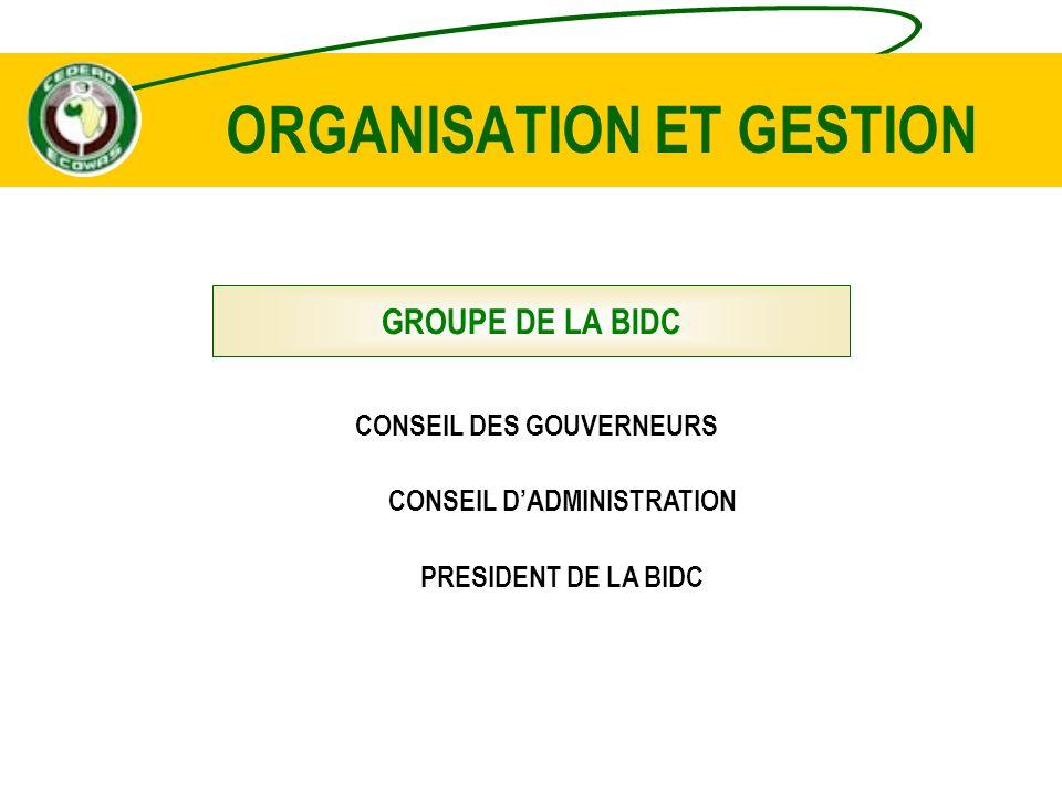 ORGANISATION ET GESTION