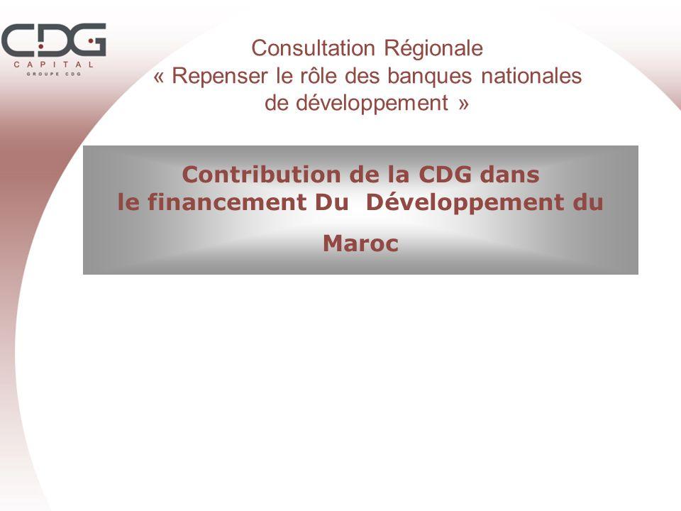 Contribution de la CDG dans le financement Du Développement du Maroc