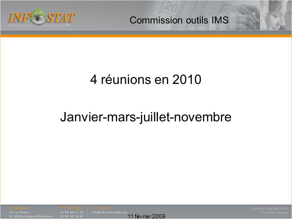 4 réunions en 2010 Janvier-mars-juillet-novembre