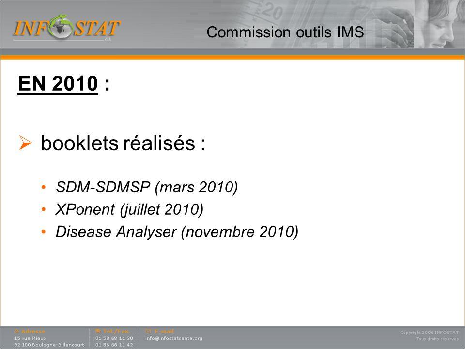 EN 2010 : booklets réalisés : Commission outils IMS