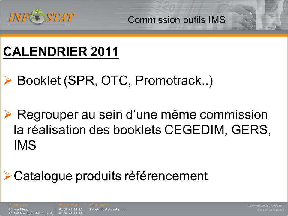 Booklet (SPR, OTC, Promotrack..)