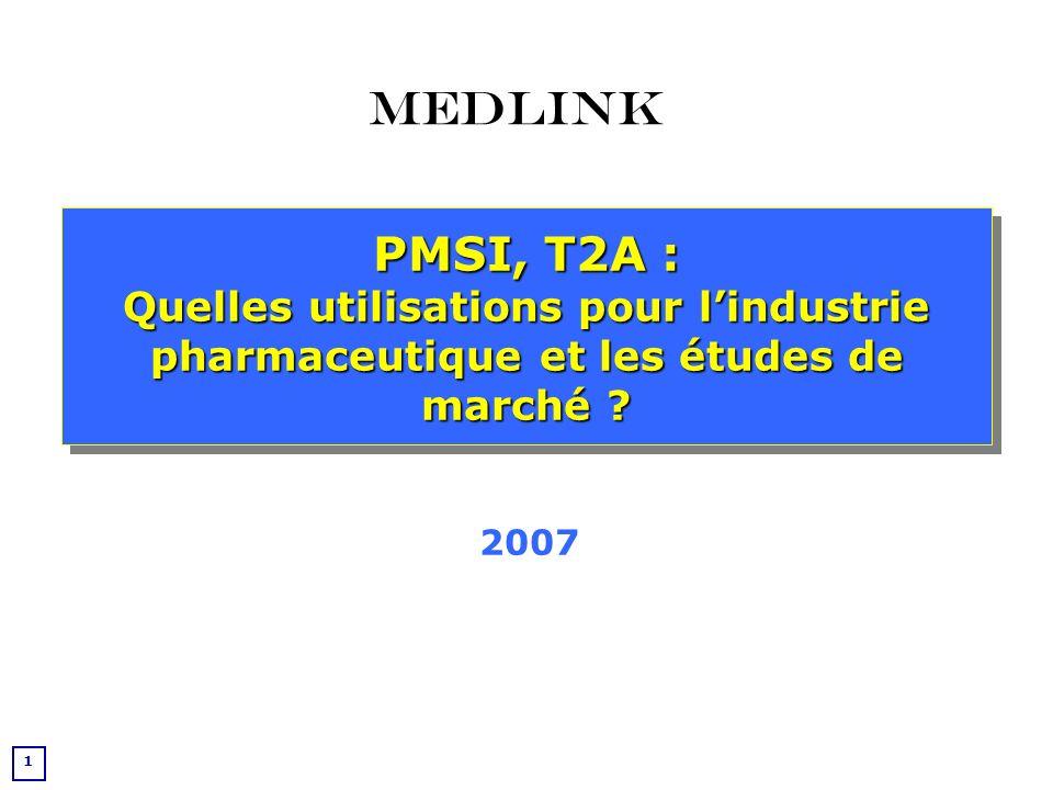 Medlink PMSI, T2A : Quelles utilisations pour l'industrie pharmaceutique et les études de marché