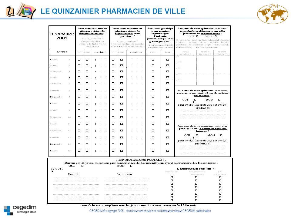 LE QUINZAINIER PHARMACIEN DE VILLE