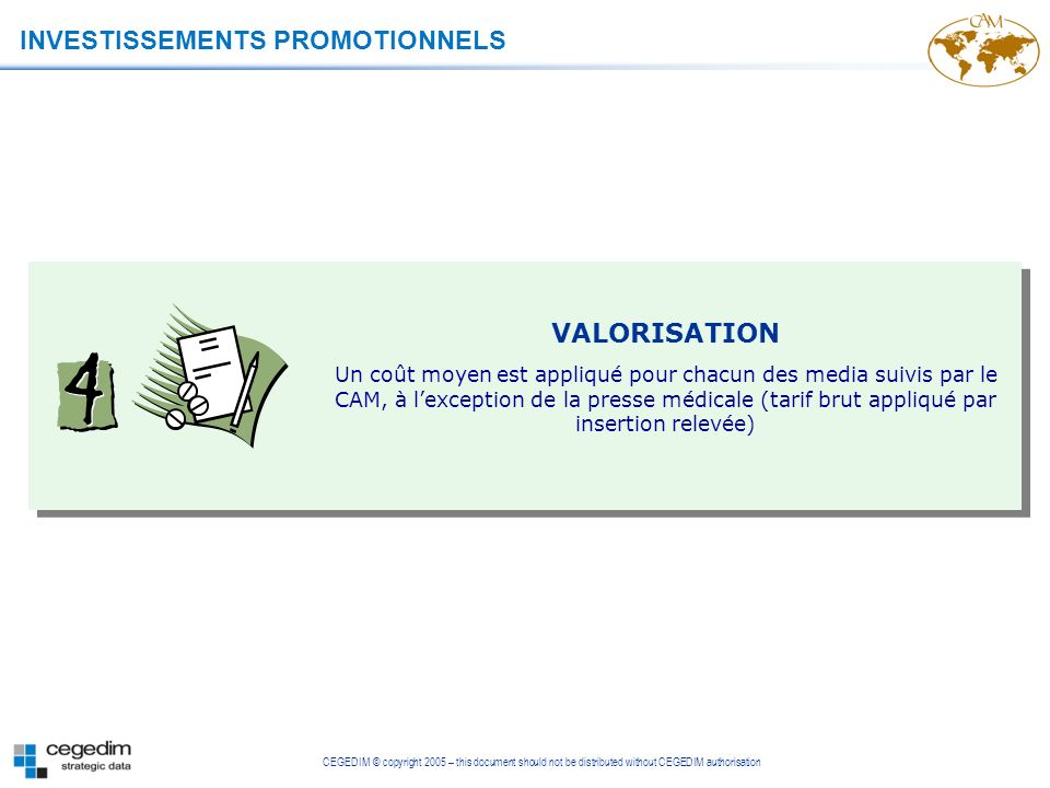 INVESTISSEMENTS PROMOTIONNELS