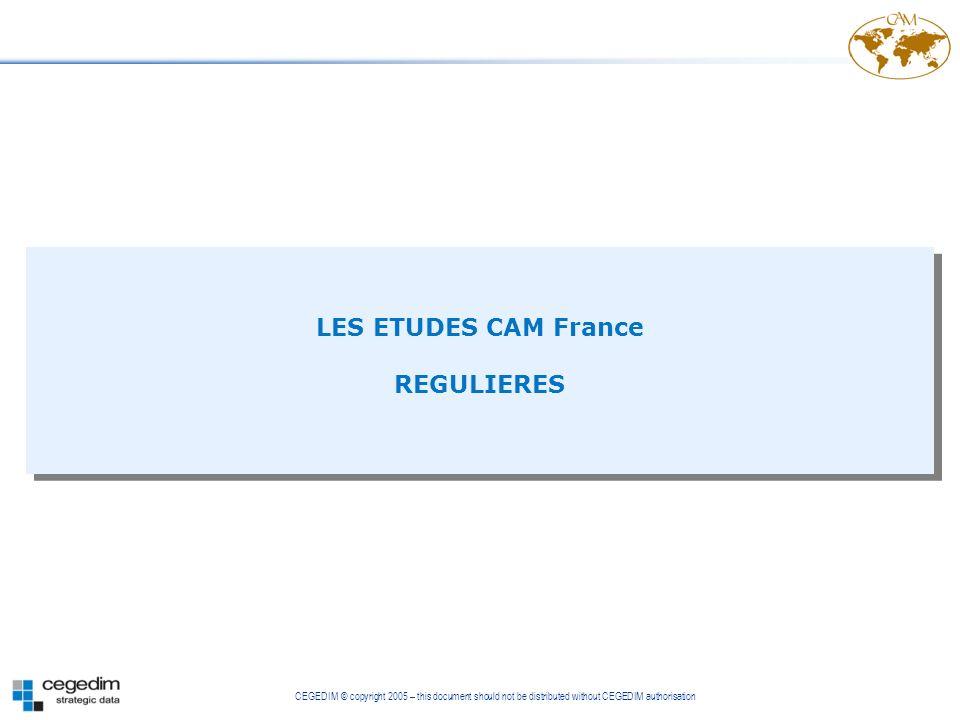 LES ETUDES CAM France REGULIERES