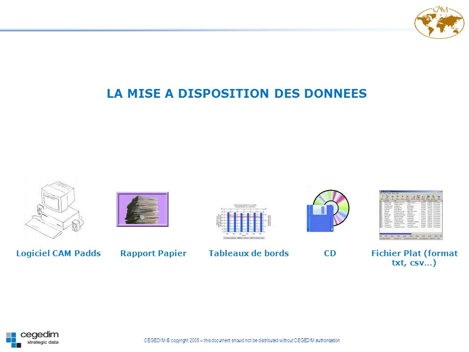 LA MISE A DISPOSITION DES DONNEES