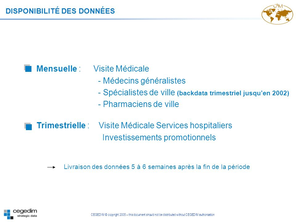 Mensuelle : Visite Médicale - Médecins généralistes