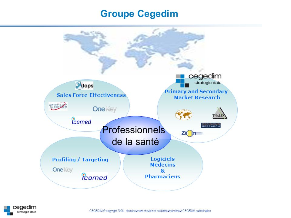Groupe Cegedim Professionnels de la santé Primary and Secondary
