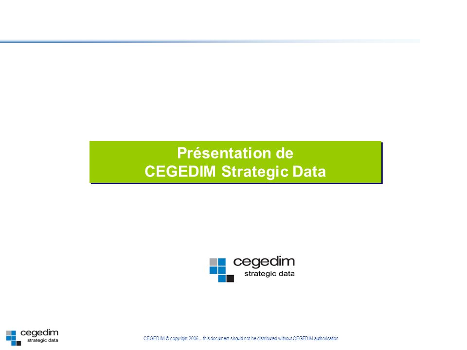 CEGEDIM Strategic Data
