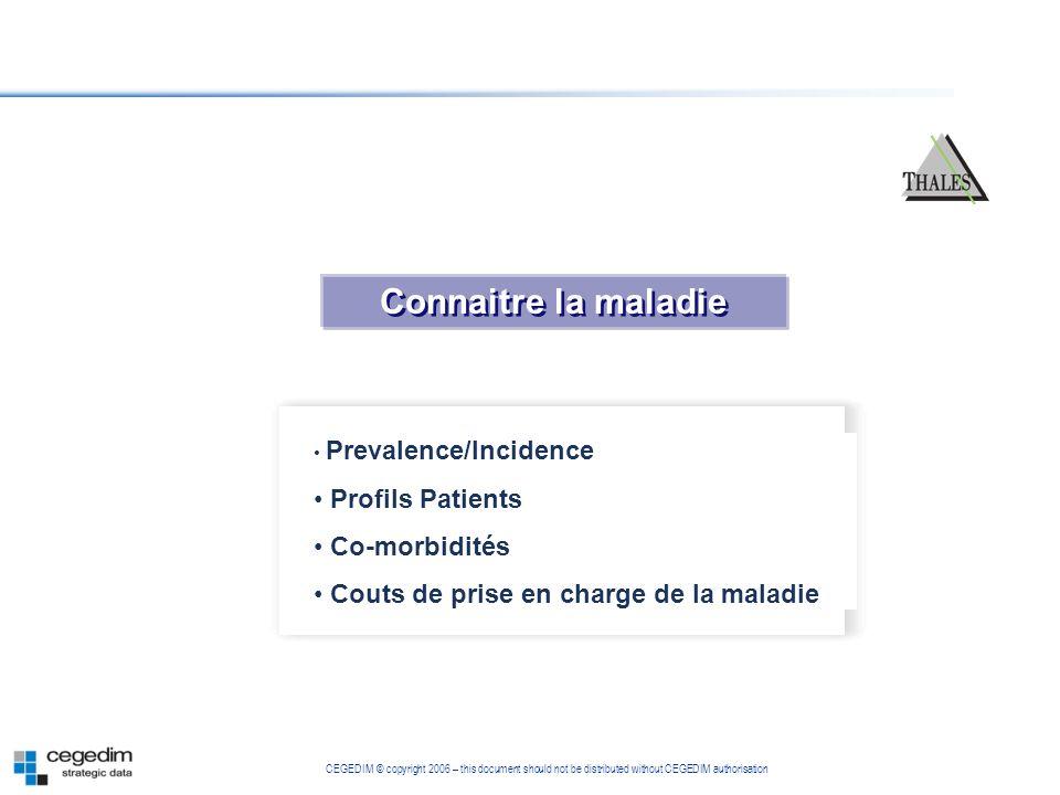 Connaitre la maladie Profils Patients Co-morbidités