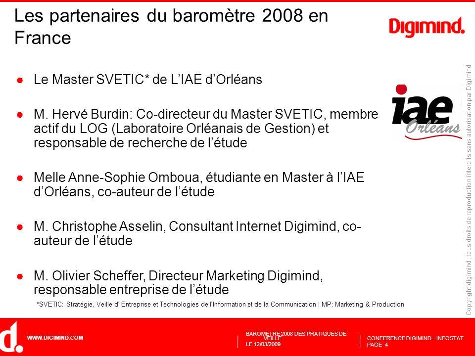 Les partenaires du baromètre 2008 en France