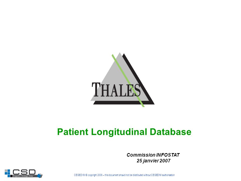 Patient Longitudinal Database