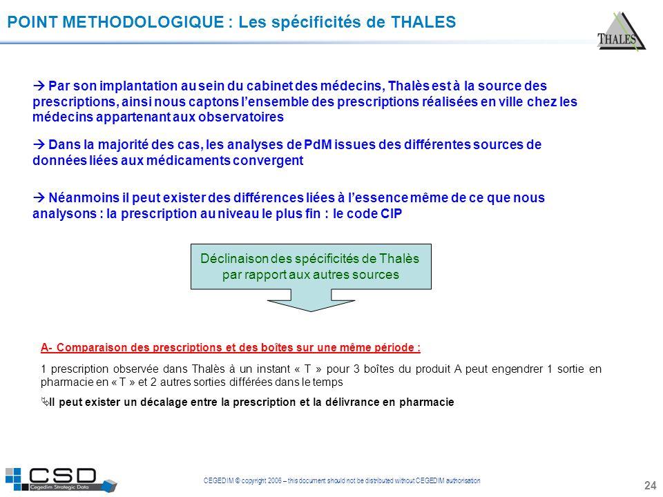 POINT METHODOLOGIQUE : Les spécificités de THALES
