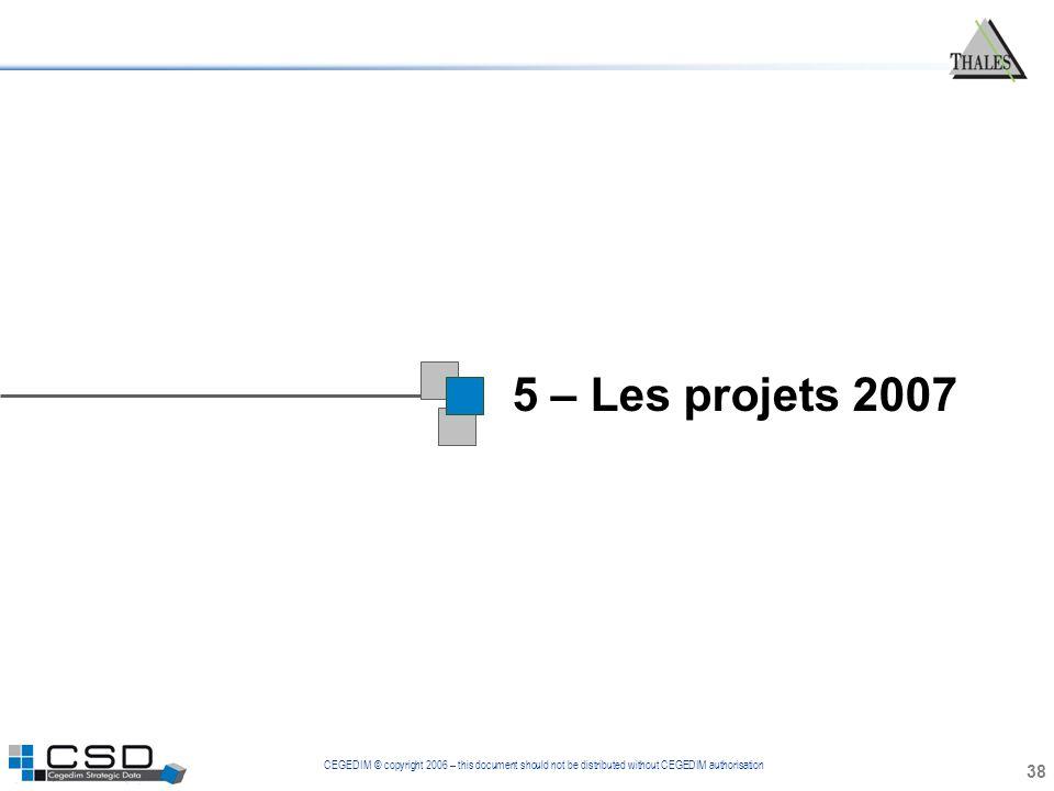 1 5 – Les projets 2007 38