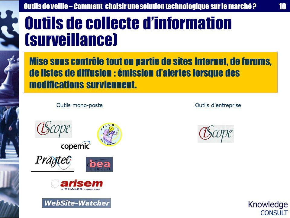 Outils de collecte d'information (surveillance)