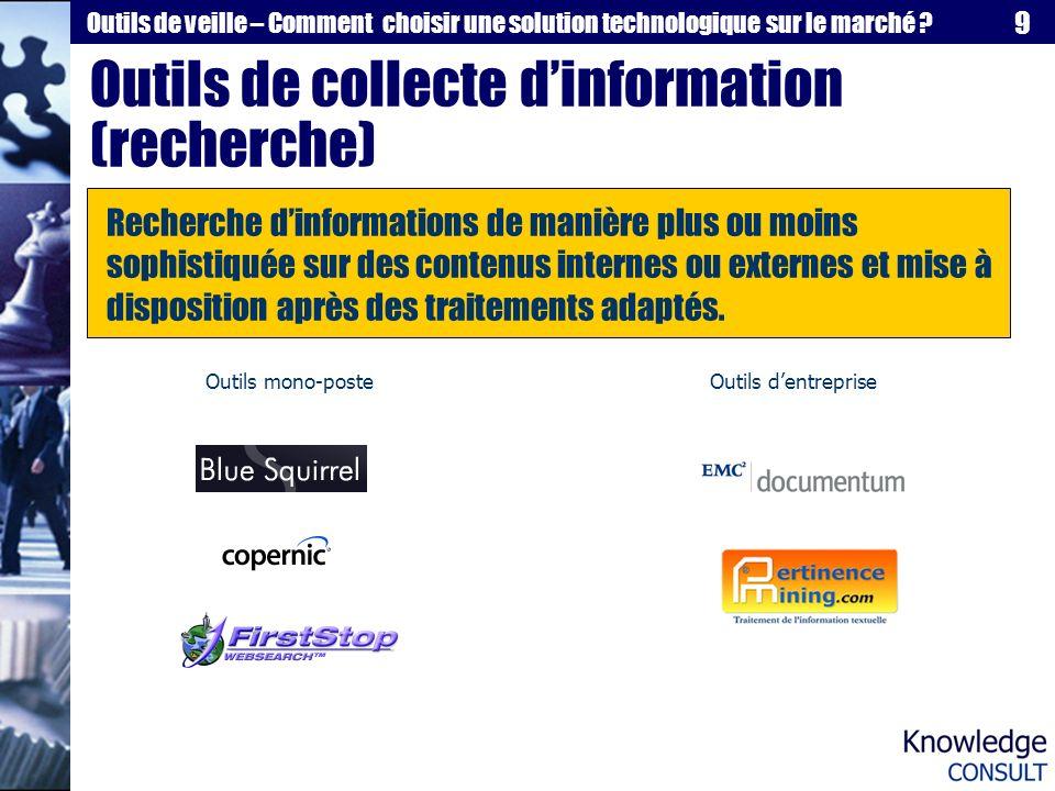 Outils de collecte d'information (recherche)