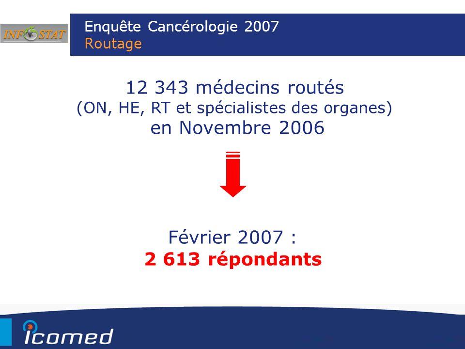 Enquête Cancérologie 2007 Routage