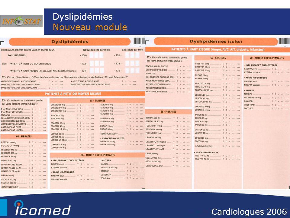 Dyslipidémies Nouveau module