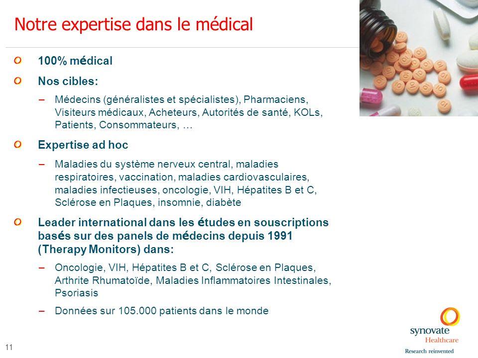 Notre expertise dans le médical