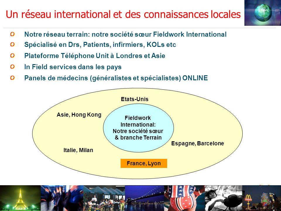 Un réseau international et des connaissances locales