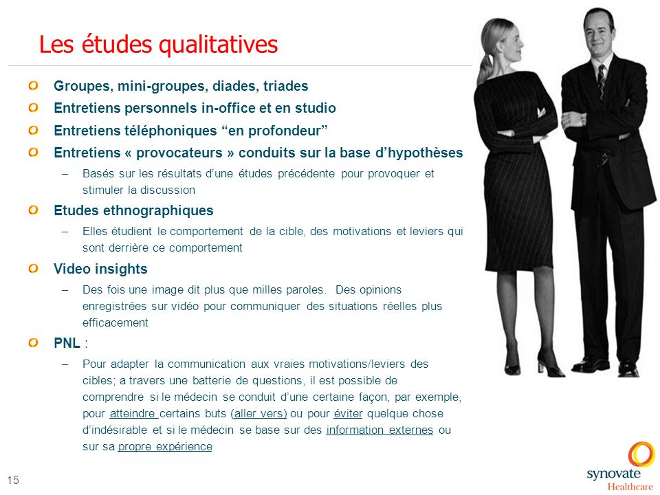 Les études qualitatives