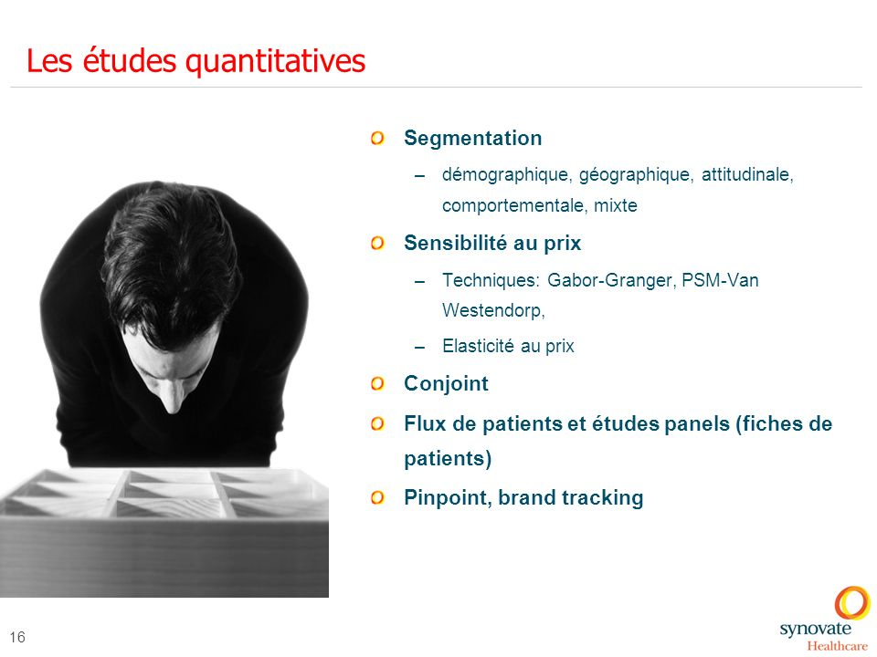 Les études quantitatives