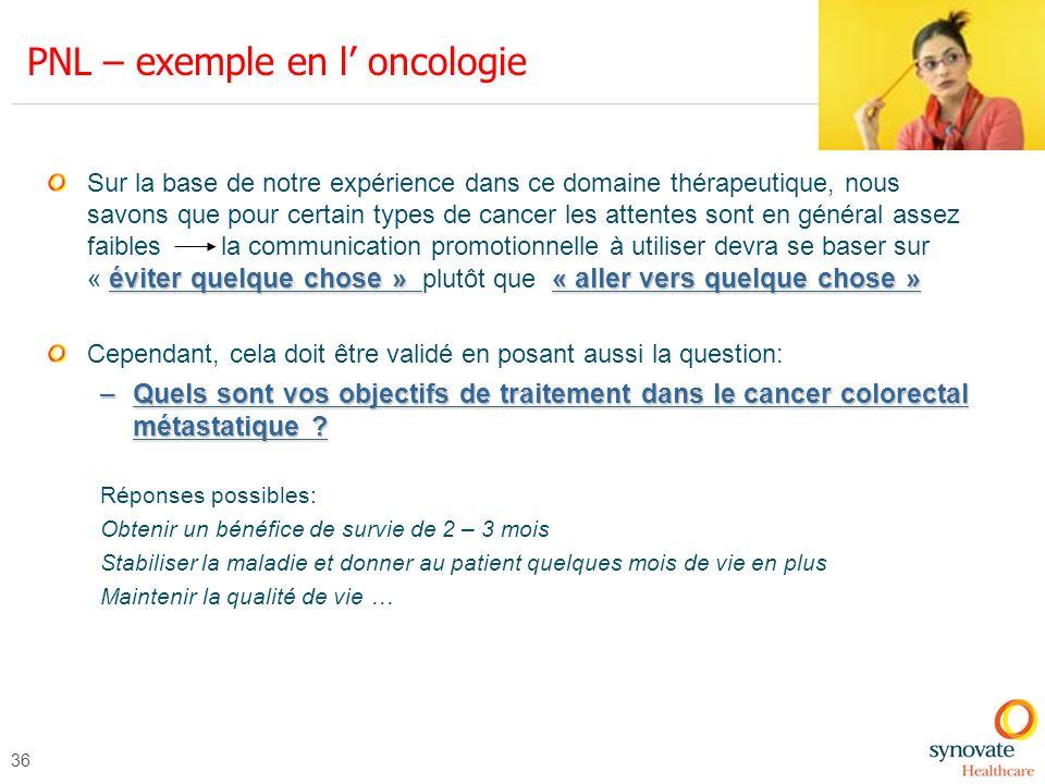 PNL – exemple en l' oncologie
