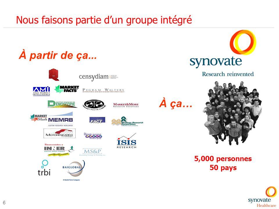 Nous faisons partie d'un groupe intégré