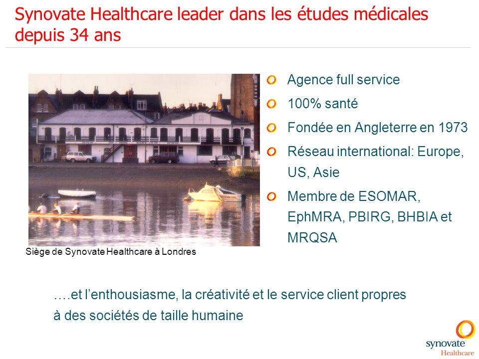 Synovate Healthcare leader dans les études médicales depuis 34 ans