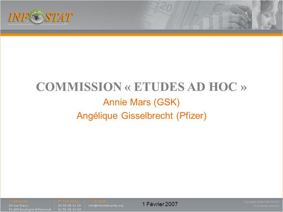 COMMISSION « ETUDES AD HOC »