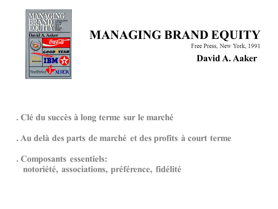 MANAGING BRAND EQUITY David A. Aaker