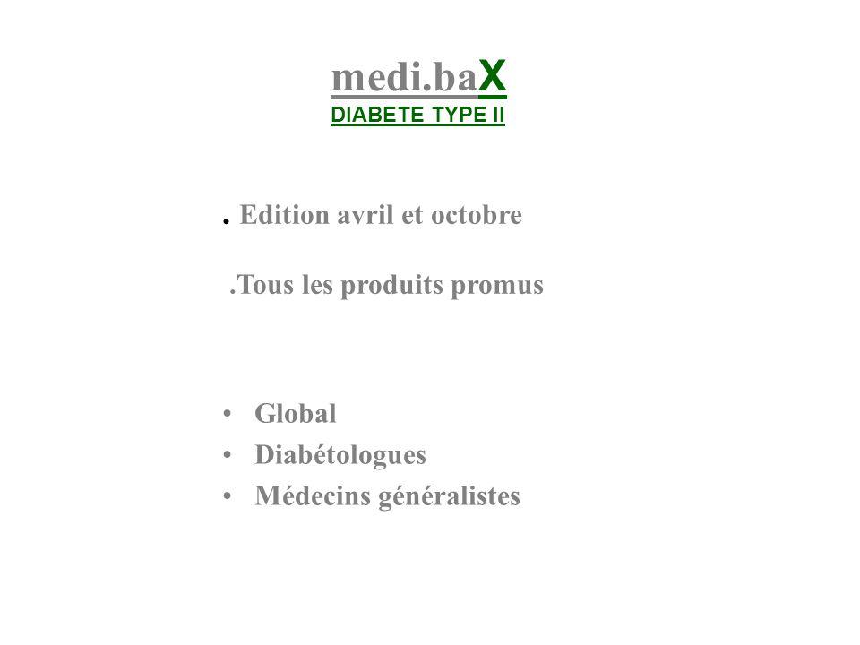 medi.baX . Edition avril et octobre .Tous les produits promus Global
