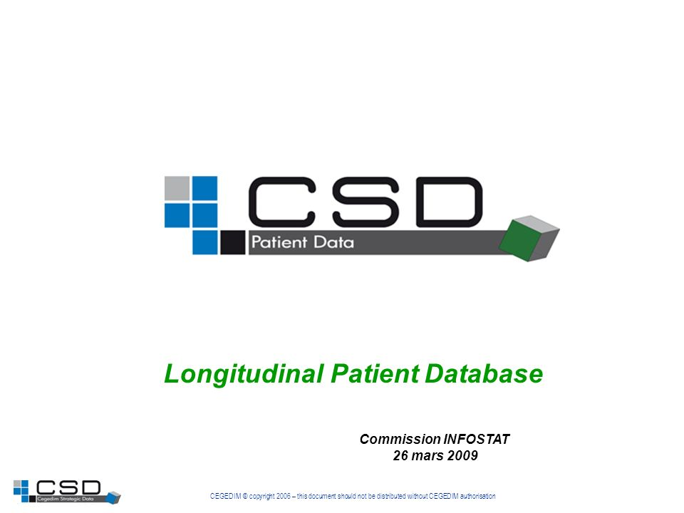Longitudinal Patient Database