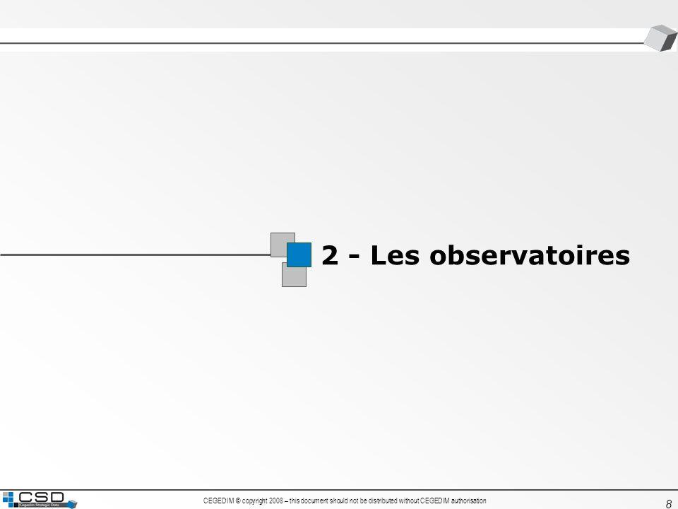1 2 - Les observatoires