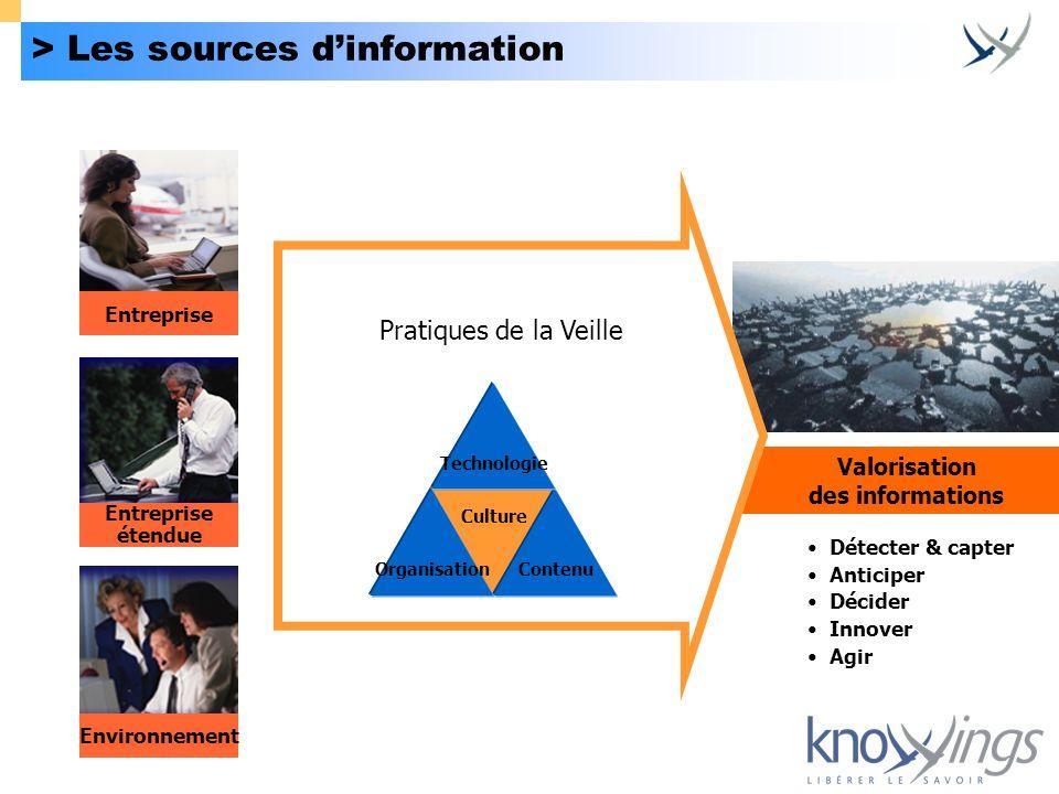 > Les sources d'information