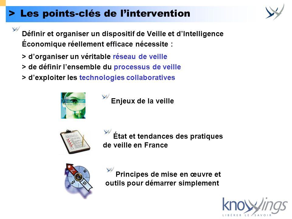 > Les points-clés de l'intervention