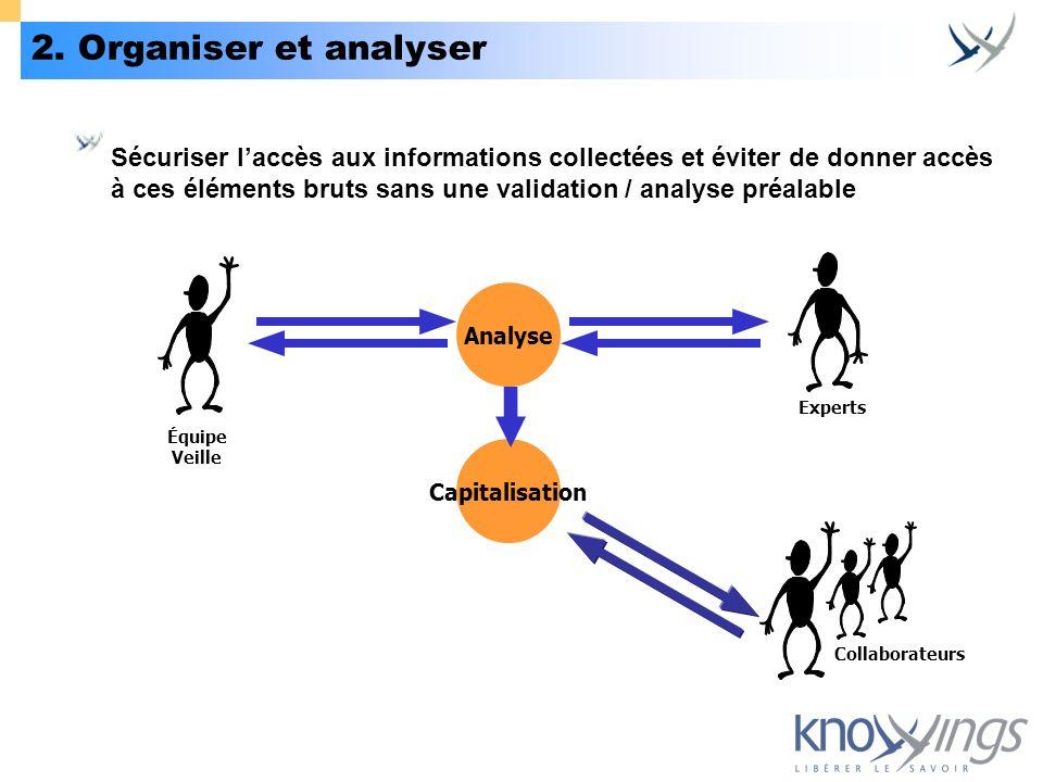 2. Organiser et analyser