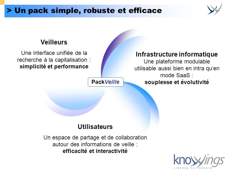 > Un pack simple, robuste et efficace